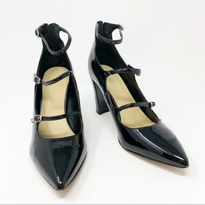 Marc Fisher | Dabney Black Patent Heels | Size 9 M